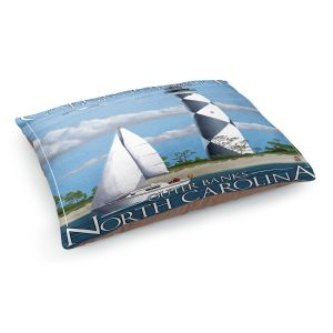 Decorative Dog Pet Beds | Lantern Press - Outter Banks North Carolina Lighthouse
