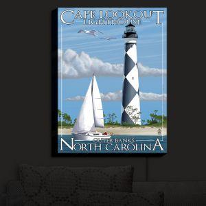 Nightlight Sconce Canvas Light | Lantern Press - Outter Banks North Carolina Lighthouse