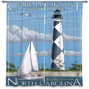 Decorative Window Treatments | Lantern Press - Outter Banks North Carolina Lighthouse