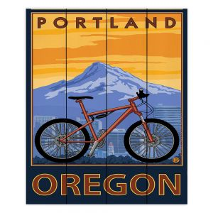 Decorative Wood Plank Wall Art   Lantern Press - Portland Oregon