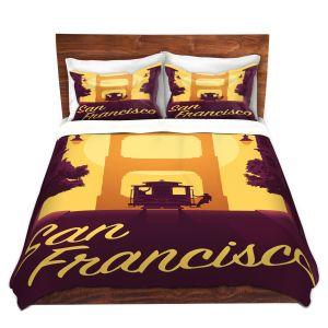 Artistic Duvet Covers and Shams Bedding   Lantern Press - San Francisco Cable Car