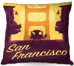 Throw Pillows Decorative Artistic   Lantern Press - San Francisco Cable Car