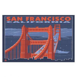 Decorative Floor Coverings | Lantern Press - San Francisco Golden Gate Bridge I