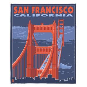 Decorative Fleece Throw Blankets | Lantern Press - San Francisco Golden Gate Bridge I