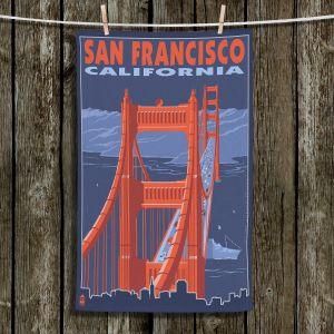 Unique Bathroom Towels   Lantern Press - San Francisco Golden Gate Bridge I