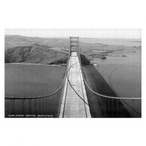 Decorative Floor Coverings | Lantern Press - San Francisco Golden Gate Bridge II