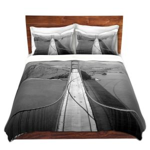 Artistic Duvet Covers and Shams Bedding | Lantern Press - San Francisco Golden Gate Bridge II
