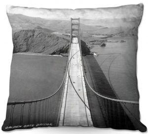 Decorative Outdoor Patio Pillow Cushion | Lantern Press - San Francisco Golden Gate Bridge II