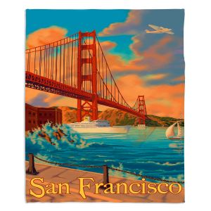 Decorative Fleece Throw Blankets | Lantern Press - San Francisco Golden Gate Bridge III