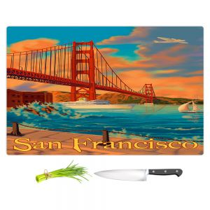 Artistic Kitchen Bar Cutting Boards | Lantern Press - San Francisco Golden Gate Bridge III