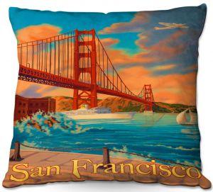 Throw Pillows Decorative Artistic   Lantern Press - San Francisco Golden Gate Bridge III