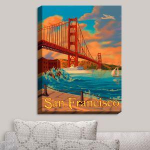 Decorative Canvas Wall Art | Lantern Press - San Francisco Golden Gate Bridge III