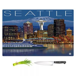 Artistic Kitchen Bar Cutting Boards | Lantern Press - Seattle Skyline