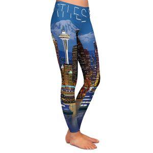 Casual Comfortable Leggings | Lantern Press - Seattle Skyline