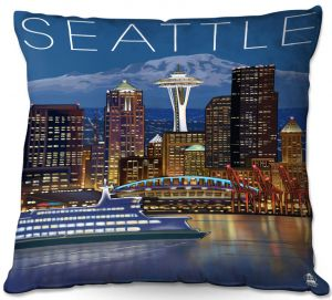 Throw Pillows Decorative Artistic | Lantern Press - Seattle Skyline