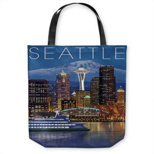 Unique Shoulder Bag Tote Bags   Lantern Press - Seattle Skyline