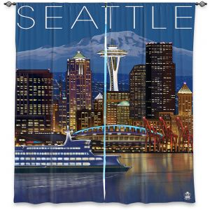 Decorative Window Treatments | Lantern Press - Seattle Skyline