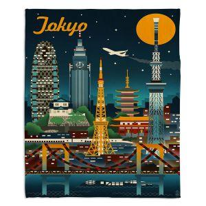 Decorative Fleece Throw Blankets | Lantern Press - Tokyo Skyline | Cityscape Downtown Japan