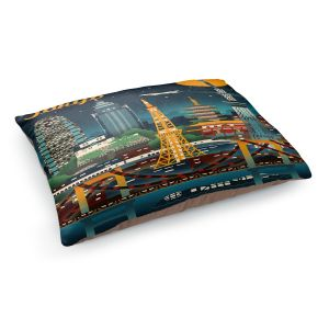 Decorative Dog Pet Beds | Lantern Press - Tokyo Skyline | Cityscape Downtown Japan
