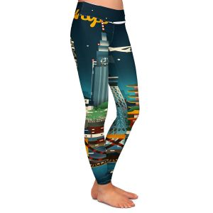 Casual Comfortable Leggings | Lantern Press - Tokyo Skyline | Cityscape Downtown Japan