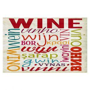 Decorative Floor Coverings | Lantern Press - Wine Language | Typography word art