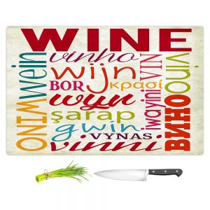 Artistic Kitchen Bar Cutting Boards | Lantern Press - Wine Language | Typography word art