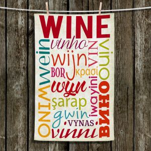 Unique Hanging Tea Towels | Lantern Press - Wine Language | Typography word art
