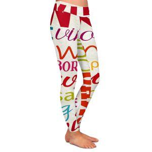 Casual Comfortable Leggings | Lantern Press - Wine Language | Typography word art