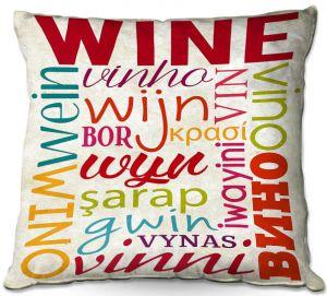 Throw Pillows Decorative Artistic | Lantern Press - Wine Language | Typography word art