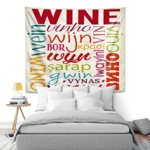 Artistic Wall Tapestry   Lantern Press - Wine Language   Typography word art