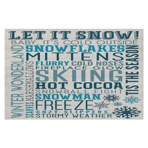 Decorative Floor Coverings | Lantern Press - Winter Quotes | Typography word art