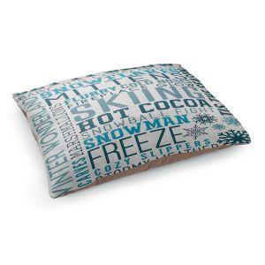Decorative Dog Pet Beds   Lantern Press - Winter Quotes   Typography word art