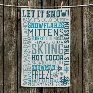 Unique Bathroom Towels | Lantern Press - Winter Quotes | Typography word art