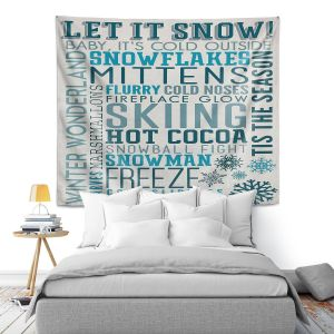 Artistic Wall Tapestry   Lantern Press - Winter Quotes   Typography word art