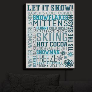 Nightlight Sconce Canvas Light | Lantern Press - Winter Quotes