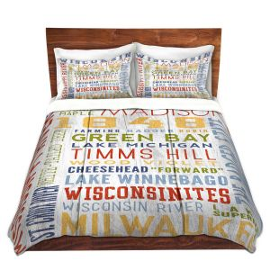 Artistic Duvet Covers and Shams Bedding | Lantern Press - Wisconsin Quotes | Typography word art