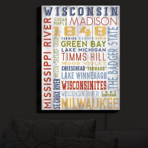 Nightlight Sconce Canvas Light | Lantern Press - Wisconsin Quotes