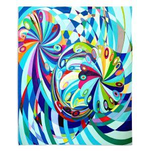Decorative Fleece Throw Blankets | Lorien Suarez - Elan Flow 8 | Geometric Abstract