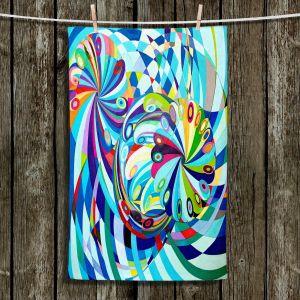 Unique Hanging Tea Towels | Lorien Suarez - Elan Flow 8 | Geometric Abstract