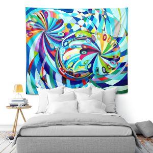 Artistic Wall Tapestry | Lorien Suarez - Elan Flow 8 | Geometric Abstract