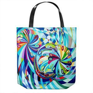 Unique Shoulder Bag Tote Bags | Lorien Suarez - Elan Flow 8 | Geometric Abstract
