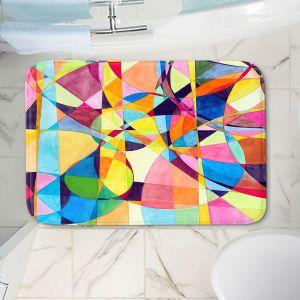 Decorative Bathroom Mats | Lorien Suarez - Geo Botanicals 10 | Abstract Geometric Pattern