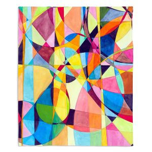 Decorative Fleece Throw Blankets | Lorien Suarez - Geo Botanicals 10 | Abstract Geometric Pattern