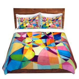 Artistic Duvet Covers and Shams Bedding | Lorien Suarez - Geo Botanicals 10 | Abstract Geometric Pattern