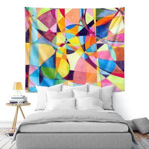 Artistic Wall Tapestry   Lorien Suarez - Geo Botanicals 10   Abstract Geometric Pattern