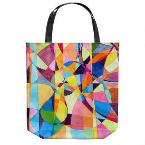 Unique Shoulder Bag Tote Bags | Lorien Suarez - Geo Botanicals 10 | Abstract Geometric Pattern