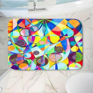 Decorative Bathroom Mats | Lorien Suarez - Geo Botanicals 23 | Abstract Geometric Pattern