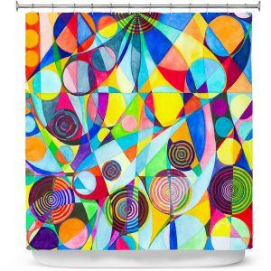 Premium Shower Curtains | Lorien Suarez - Geo Botanicals 23 | Abstract Geometric Pattern