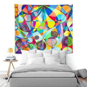 Artistic Wall Tapestry | Lorien Suarez - Geo Botanicals 23 | Abstract Geometric Pattern