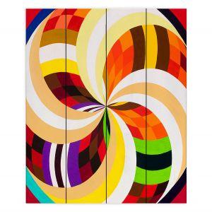 Decorative Wood Plank Wall Art | Lorien Suarez - Geo Botanicals 24 | Abstract Geometric Pattern